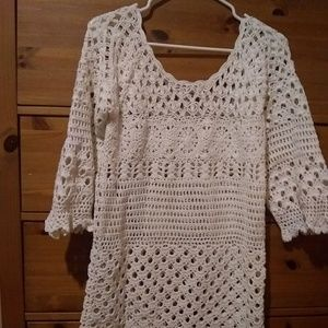 Lucky brand knit embroidered long top